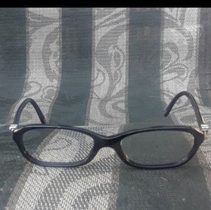 Tiffany and Company authentic black/silver frames